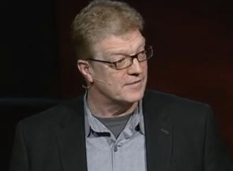 Sir Ken Robinson giving a TED talk
